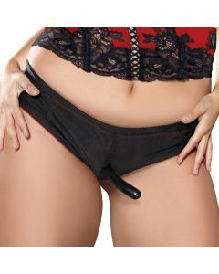 Adam & Eve Scarlet Plus Size Strap-On Starter Set Zwart