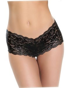 Adam & Eve Cheeky Panty With Rechargeable Bullet Zwart