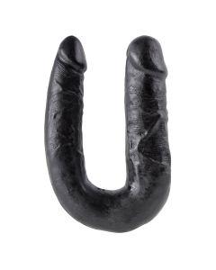 King Cock U-Shaped Medium Double Trouble Zwart
