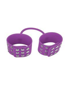 Ouch! Silicone Cuffs Handboeien Paars