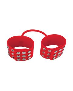Ouch! Silicone Cuffs Handboeien Rood