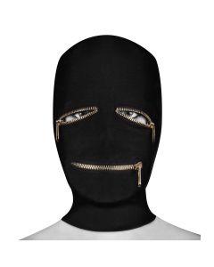 Ouch! Extreme Zipper Mask Zwart