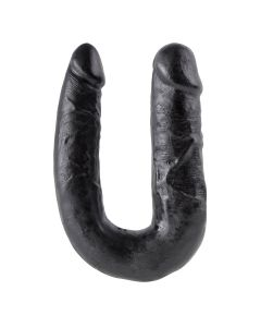 King Cock U-Shaped Medium Double Trouble Zwart