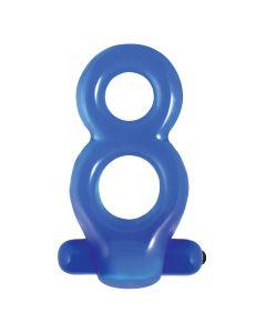 Renegade Vibrating Men's Cockring Blauw