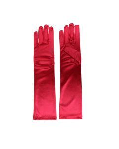 Satin Gloves Rood