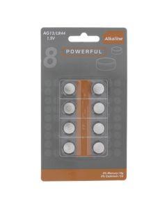 Batterijen Knoopcel AG13, 8 stuks