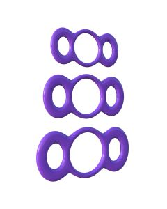 C-Ringz 3-Ring Quick Release Trainer Cockring Set Paars