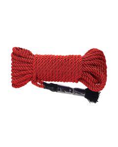 Fetish Deluxe Silky Rope 9,7 Meter Rood