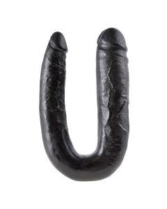 King Cock U-Shaped Large Double Trouble Zwart