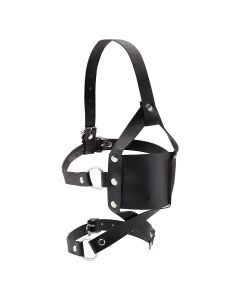 Ouch! Leather Mouth Gag Zwart