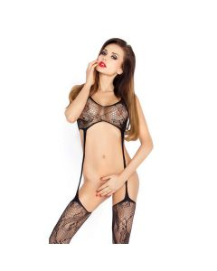 Passion Erotic Line Bodystocking Catsuit BS016 Zwart